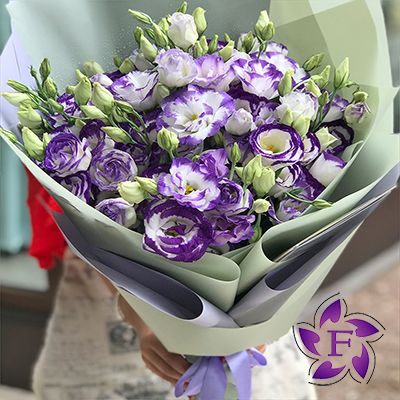 Beautiful bouquets of eustoma