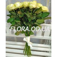 25 white roses in a bouquet - Photo 2
