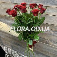 Букет из 11 красных роз 70 см - Фото 1