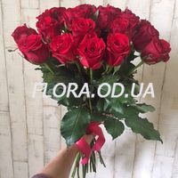 Букет з 21 червоної троянди - Фото 1
