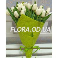 Bouquet of 29 white tulips - Photo 2