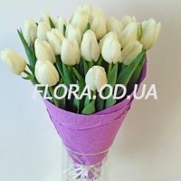 Bouquet of 29 white tulips - Photo 3