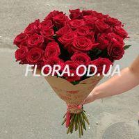 Букет з 39 червоних троянд - Фото 1