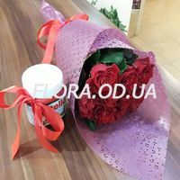 Bouquet of 15 red roses - Photo 4