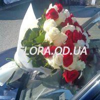 Букет из 51 разноцветной розы 70 см - Фото 2