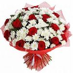 White and red bouquets - flowers and bouquets on flora.od.ua