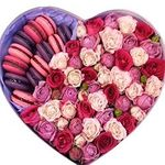 Flowers and Macarons in a box - flowers and bouquets on flora.od.ua
