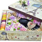 Flowers and champagne in a box - flowers and bouquets on flora.od.ua