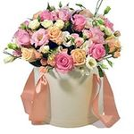 Flowers in a hat box - flowers and bouquets on flora.od.ua