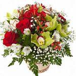 Корзины цветов микс - цветы и букеты на flora.od.ua