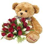 Мишки с цветами - цветы и букеты на flora.od.ua