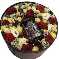 Flowers and whiskey for men - flowers and bouquets on flora.od.ua