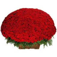"""1001 red roses"" in the online flower shop flora.od.ua"