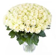 101 white roses 70 cm - flowers and bouquets on flora.od.ua