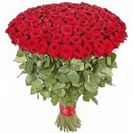 101 imported roses 1m. - flowers and bouquets on flora.od.ua