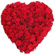 101 red roses heart - flowers and bouquets on flora.od.ua