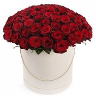 """101 red roses in a box"" in the online flower shop flora.od.ua"
