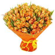 101 оранжевый тюльпан - цветы и букеты на flora.od.ua