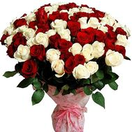 101 multi-colored roses 70 cm - flowers and bouquets on flora.od.ua