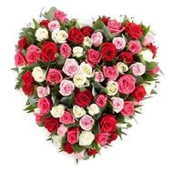 101 multi-colored roses - flowers and bouquets on flora.od.ua