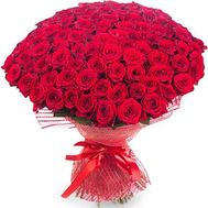 101 roses 60 cm - flowers and bouquets on flora.od.ua
