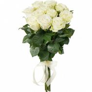 11 white roses - flowers and bouquets on flora.od.ua