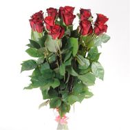 11 imported red roses - flowers and bouquets on flora.od.ua