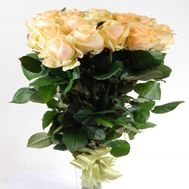 11 creamy imported roses - flowers and bouquets on flora.od.ua