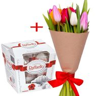 """11 tulips and Raffaello"" in the online flower shop flora.od.ua"
