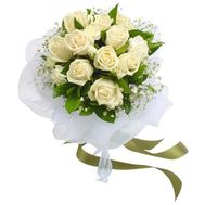 15 white roses - flowers and bouquets on flora.od.ua