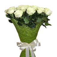 15 imported white roses - flowers and bouquets on flora.od.ua