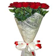 15 imported red roses - flowers and bouquets on flora.od.ua