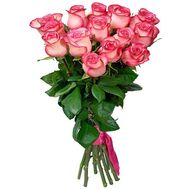 15 imported pink roses - flowers and bouquets on flora.od.ua