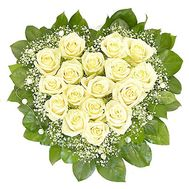 17 white roses - flowers and bouquets on flora.od.ua