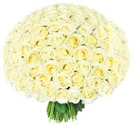 """201 white roses 60 cm"" in the online flower shop flora.od.ua"