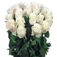 21 imported white roses - flowers and bouquets on flora.od.ua