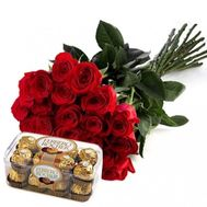 21 imported roses - flowers and bouquets on flora.od.ua