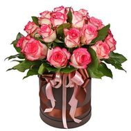 21 roses of Jamila in the box - flowers and bouquets on flora.od.ua