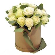 21 roses in a round box - flowers and bouquets on flora.od.ua