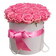 21 roses in a hat box - flowers and bouquets on flora.od.ua
