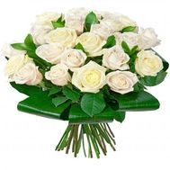25 white roses - flowers and bouquets on flora.od.ua