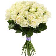 25 white roses in a bouquet - flowers and bouquets on flora.od.ua