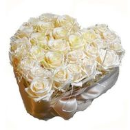 27 white roses - flowers and bouquets on flora.od.ua