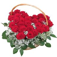 27 red roses - flowers and bouquets on flora.od.ua