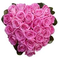 27 pink roses heart - flowers and bouquets on flora.od.ua