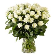 45 imported white roses - flowers and bouquets on flora.od.ua