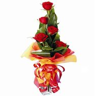 """5 import roses"" in the online flower shop flora.od.ua"