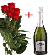 """5 roses and Martini Asti"" in the online flower shop flora.od.ua"