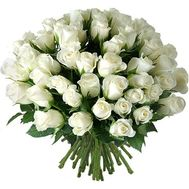 51 imported white roses - flowers and bouquets on flora.od.ua