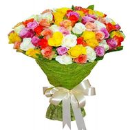 """51 multi-colored roses 60 cm"" in the online flower shop flora.od.ua"
